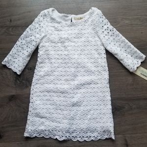 Genuine by oshkosh  white girls lace dress
